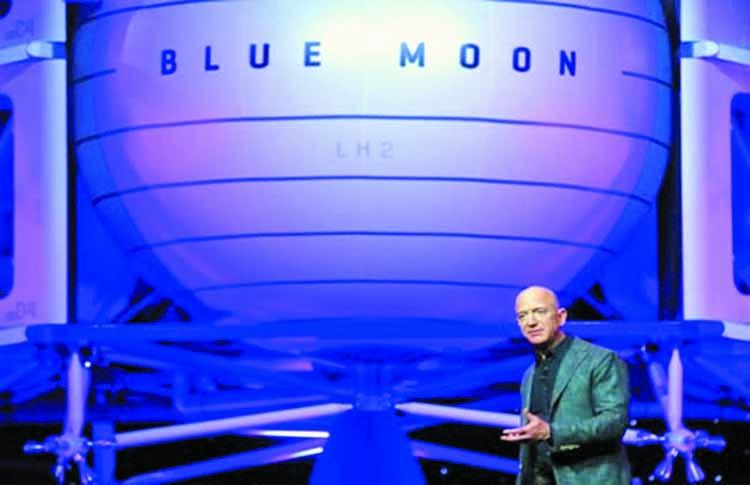 Bezos unveils lunar lander project 'Blue Moon'