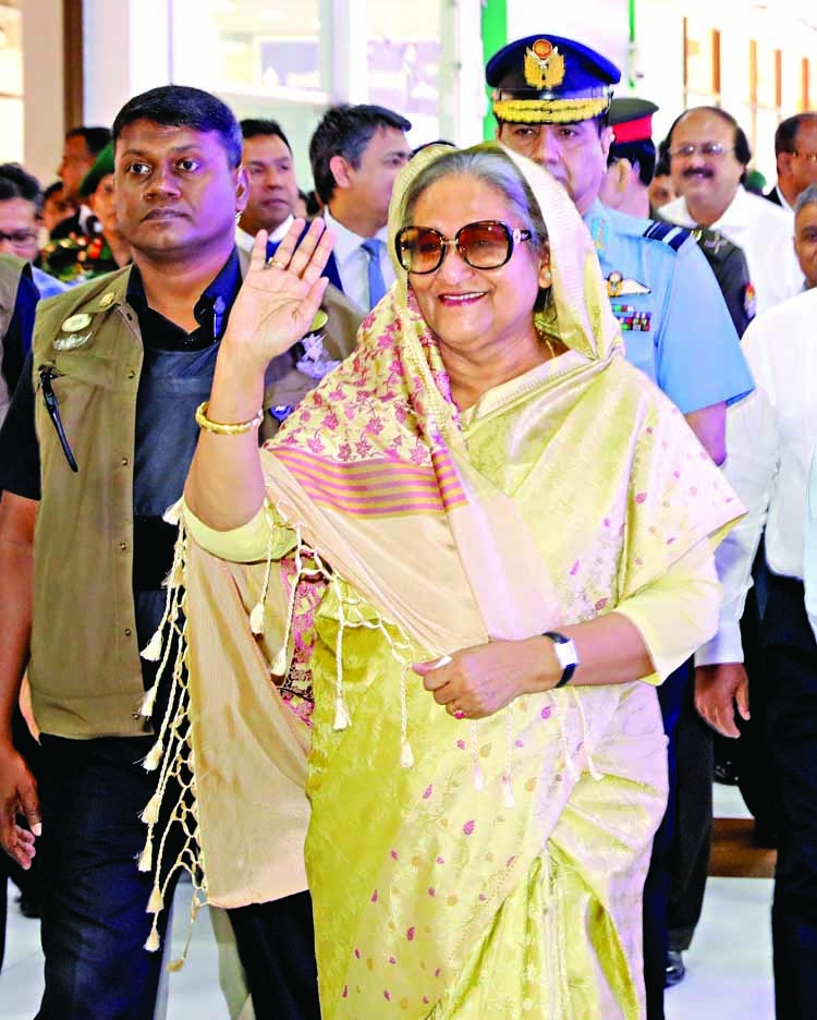 PM returns home