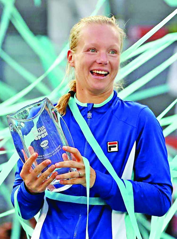 Bertens stuns Halep to lift Madrid Open title