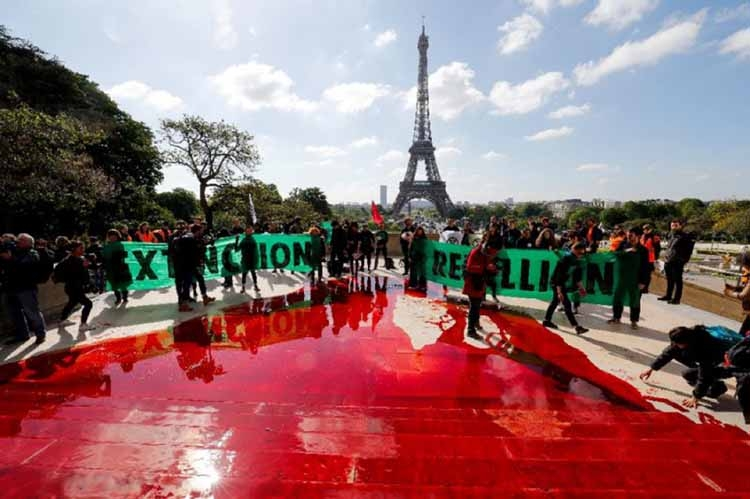 Anti-extinction protest in Paris