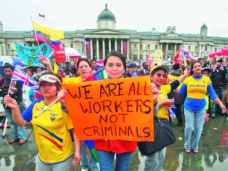 Workers and refugees are not criminals