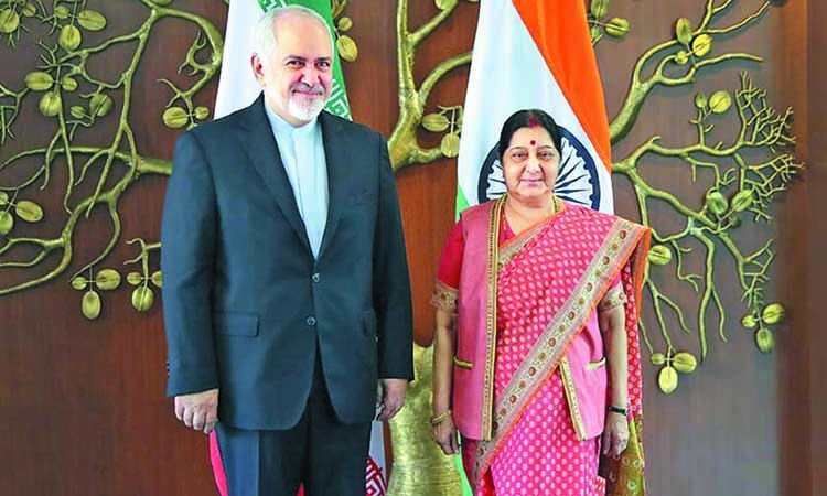 Javad in India for talks after US sanction