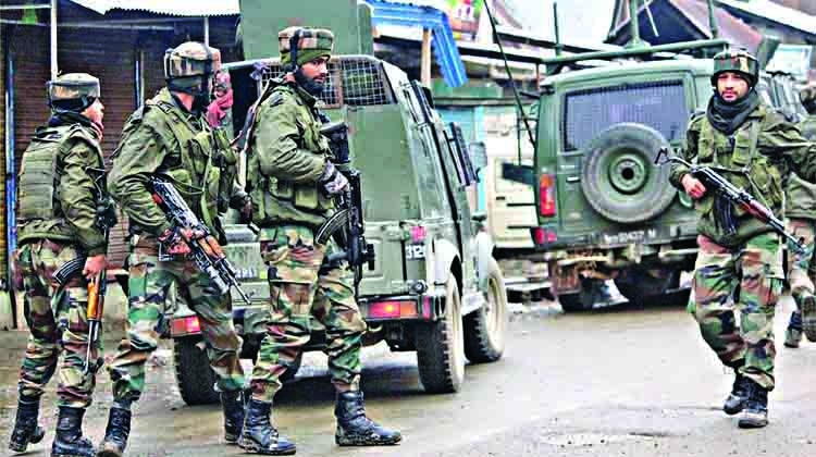 Soldier, terrorists killed in J&K gunfight