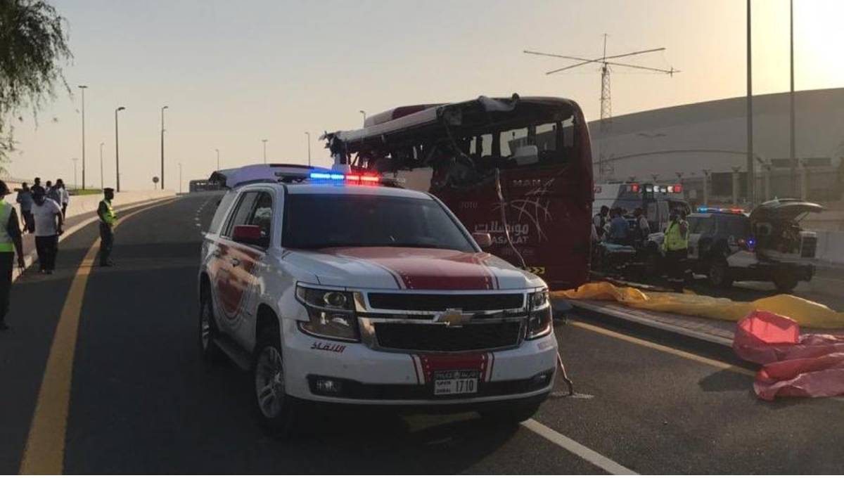 Police say Oman-Dubai bus crashes, killing 17 in UAE