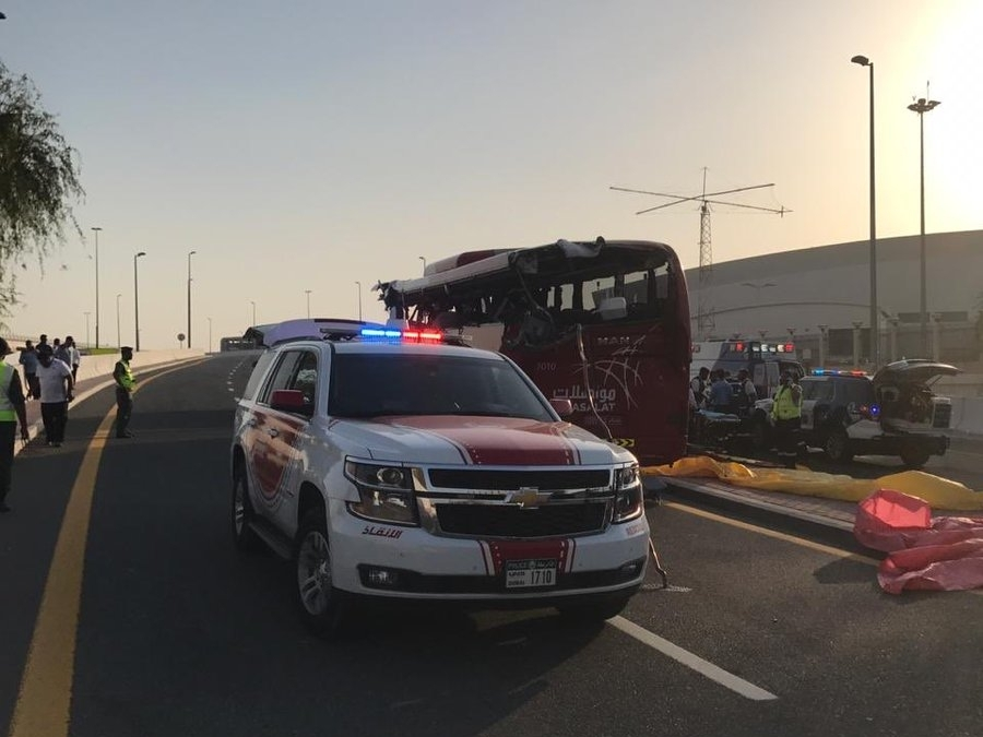 Police say Oman-Dubai bus crashes, killing 17 in UAE