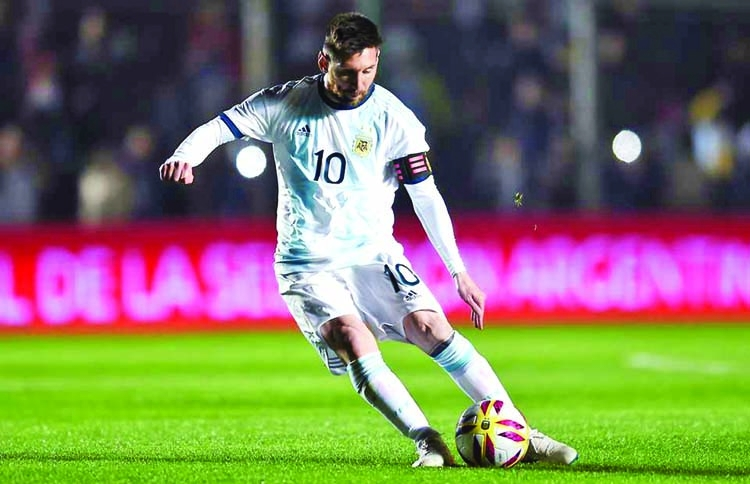 Messi scores twice as Argentina routs Nicaragua