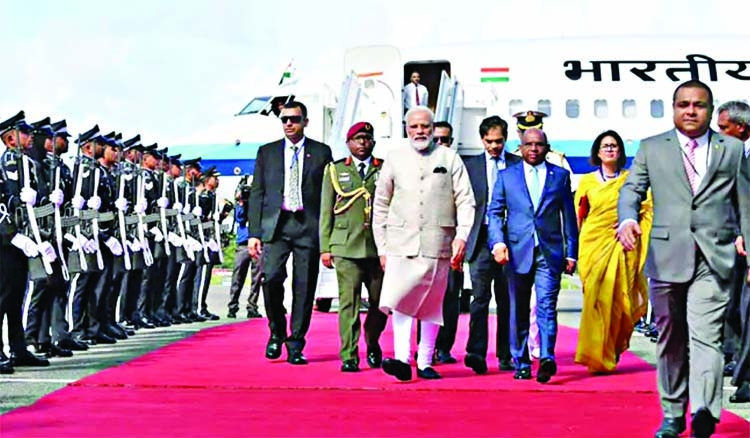 Modi arrives in Maldives on first foreign visit after re-election