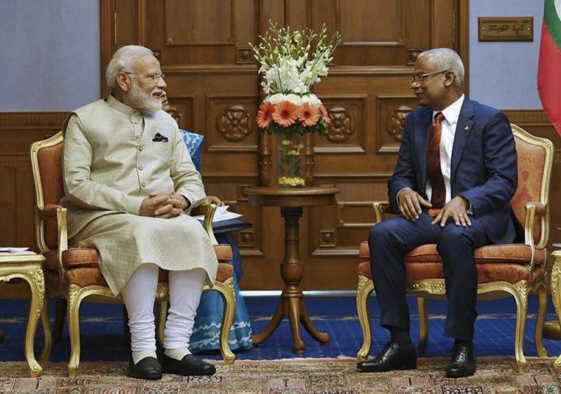 Modi visits Maldives, signaling India's return as key ally
