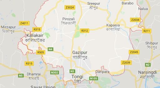 Gazipur fire gutted 57 houses in workers colony