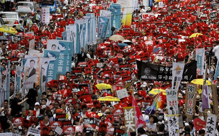 Huge Hong Kong protest against extradition bill