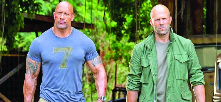 Dwayne reveals scene from 'Hobbs and Shaw'