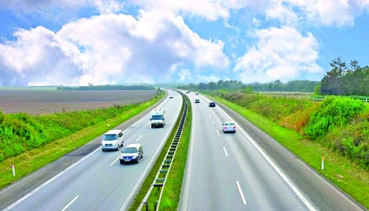 Travelers enjoying smooth journey on highway