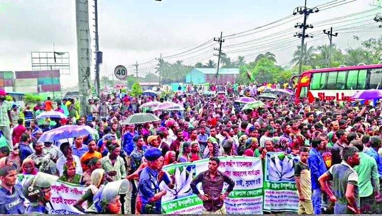 Fishermen block Dhaka Chattogram Highway