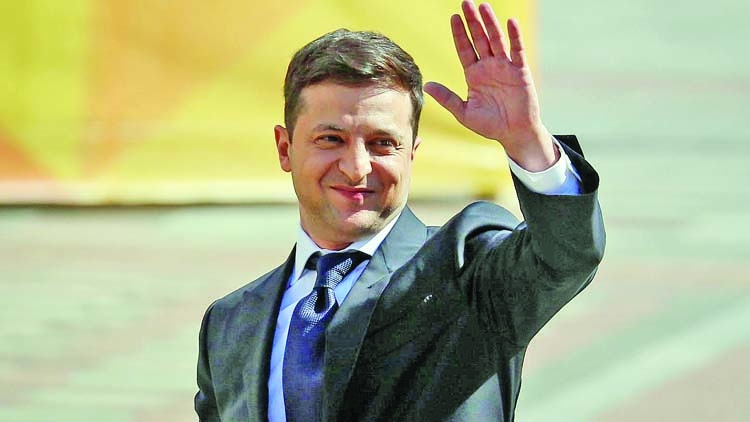 Party of Zelenskiy leads parliamentary vote race