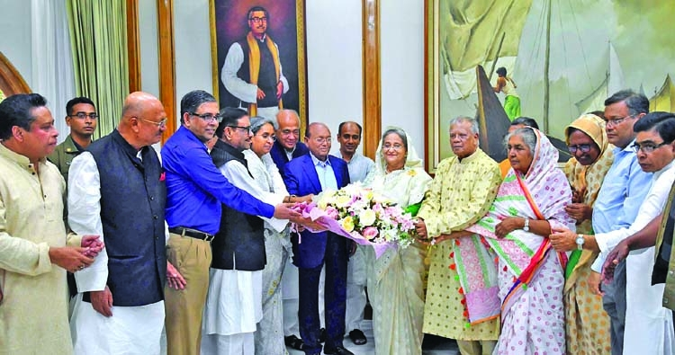 AL leaders greet PM on 11th anniversary of her release