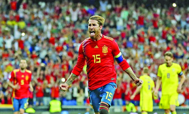Spain cruise past Sweden