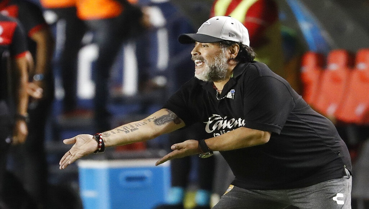 Maradona's stint with the Sinaloa Dorados is over