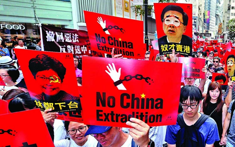 HK suspends China  extradition bill