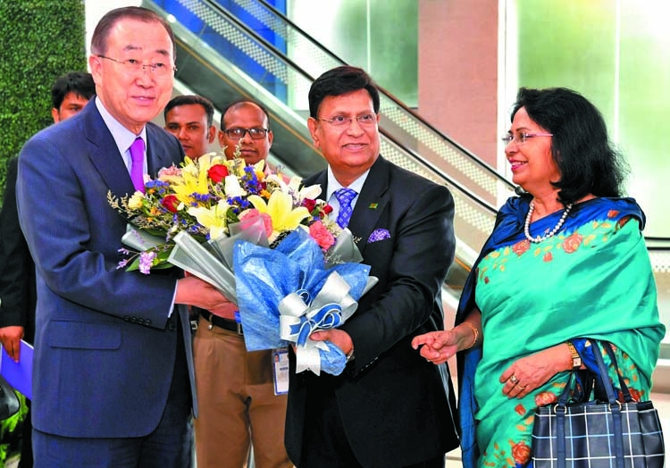 Marshall Island President, Ban Ki-moon in city