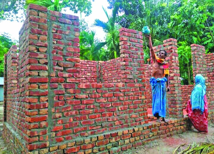 271 families get allocated new houses in Sherpur