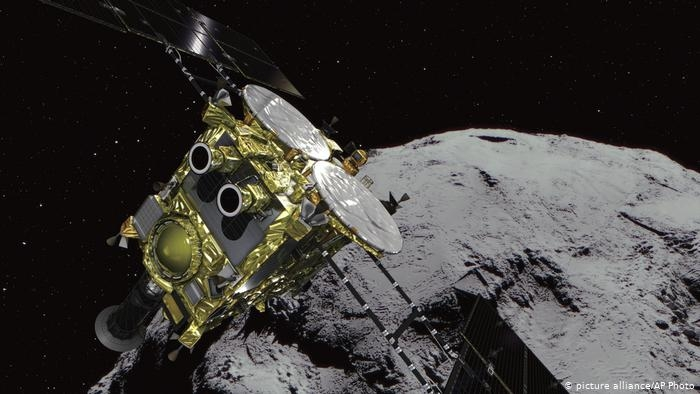 Japan spacecraft lands for final asteroid mission