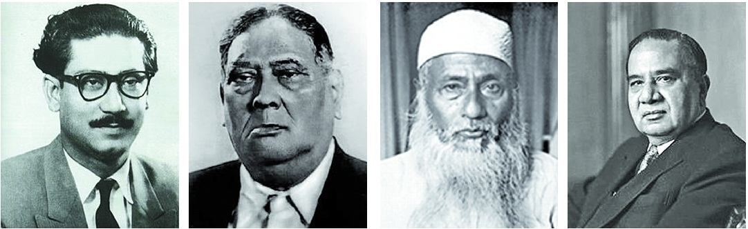 Image result for Mujib, suhrawardy and Bhasani