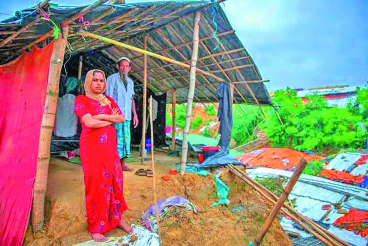 Rain in Rohingya camps for seventh day