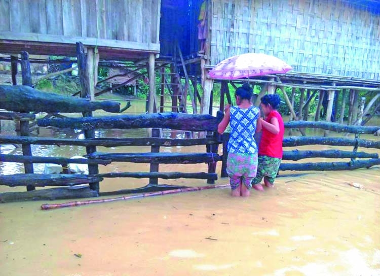Hundreds of families marooned