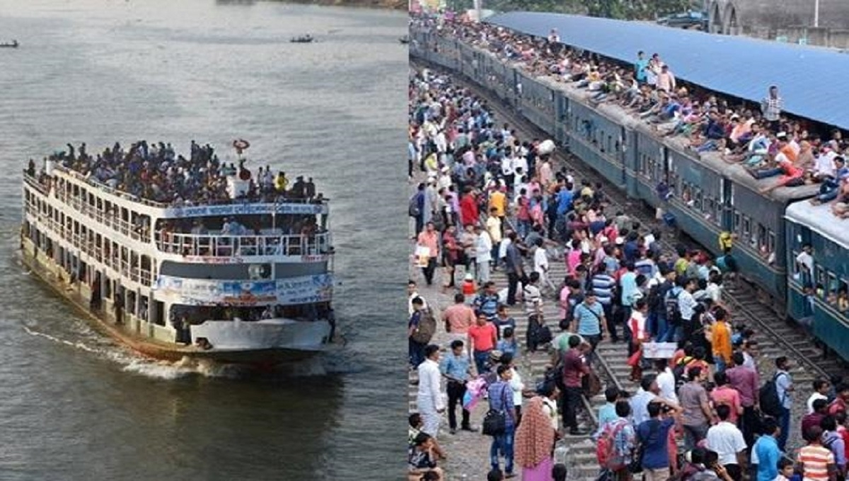 Holidaymakers start leaving Dhaka braving bad weather