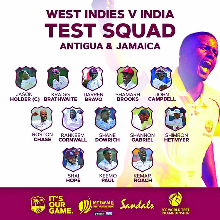 Windies call up Cornwall for India Tests