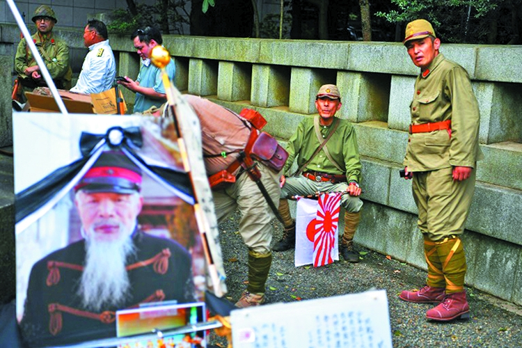 Abe sends offering to controversial Yasukuni shrine