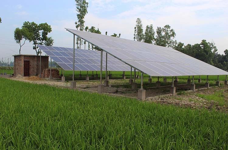 Solar water pumps get popular in Bogura