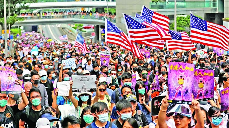 HK protesters call on Trump to 'liberate' city