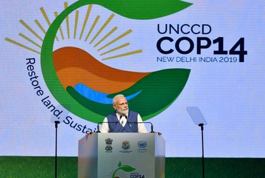 India to restore 26m hectares of degraded land by 2030: Modi