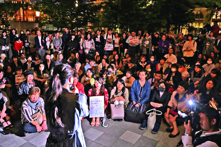 Protesters accuse Japan of failing women