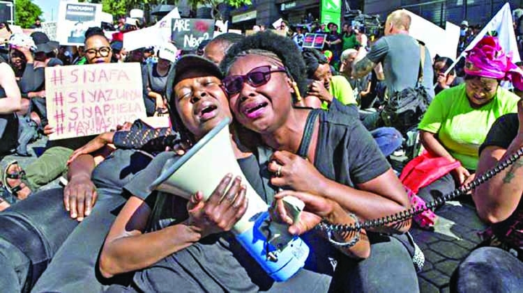 SA anti-rape protesters target stock exchange