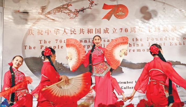 Exhibition begins to mark China's founding anniversary