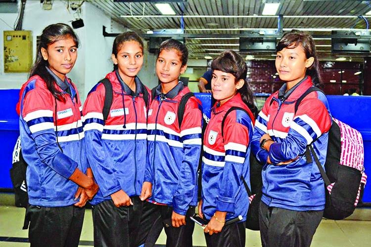 U-15 women's football team reach Bhutan