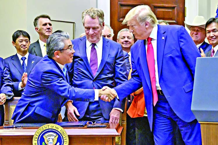 US signs limited deal with Japan