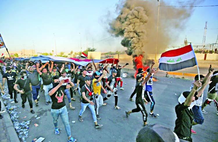 For Iran, Iraq's unrest is plot to undo bilateral ties