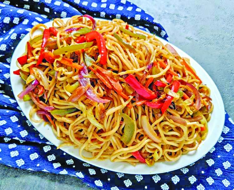 Ingredients of Vegetable Chowmein
