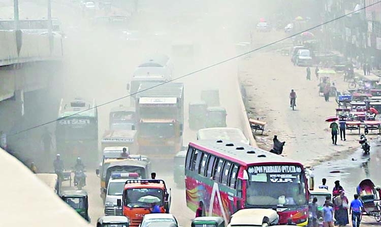 Dhaka ranks second worst  in Air Quality Index