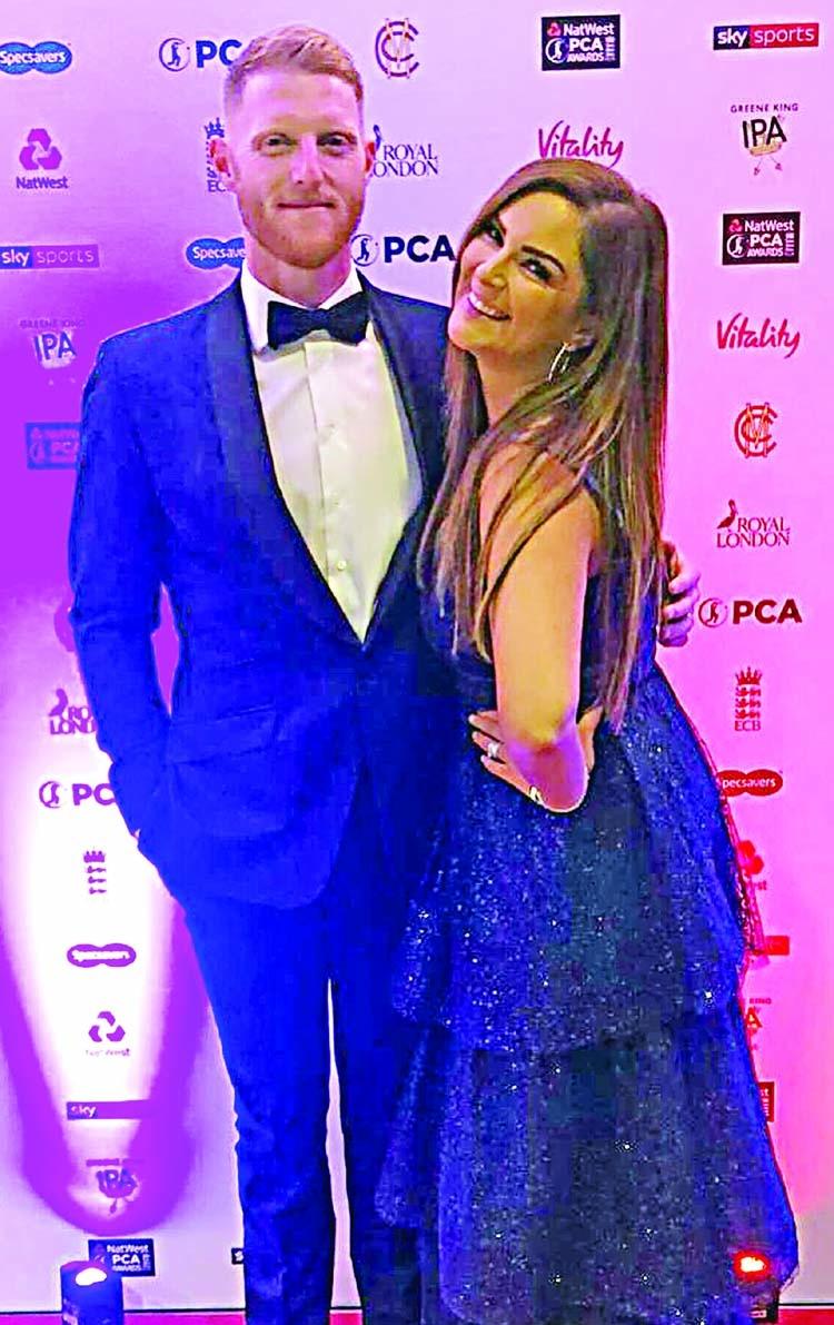 Stokes' wife denies awards altercation