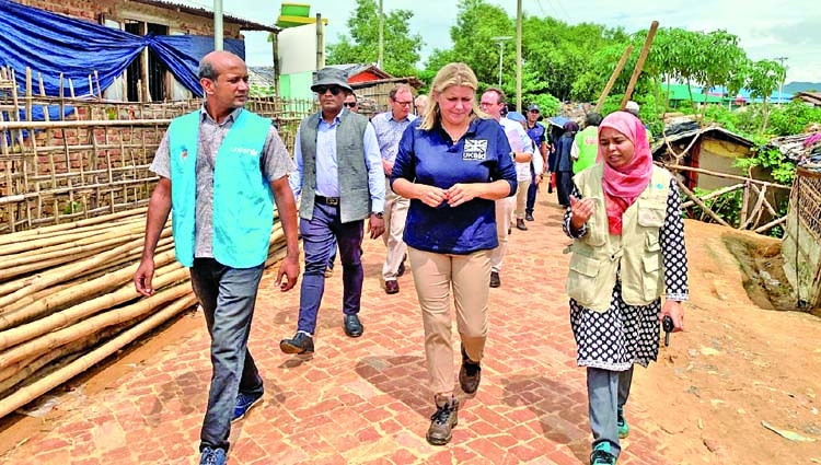 UK pledges further support for Rohingyas