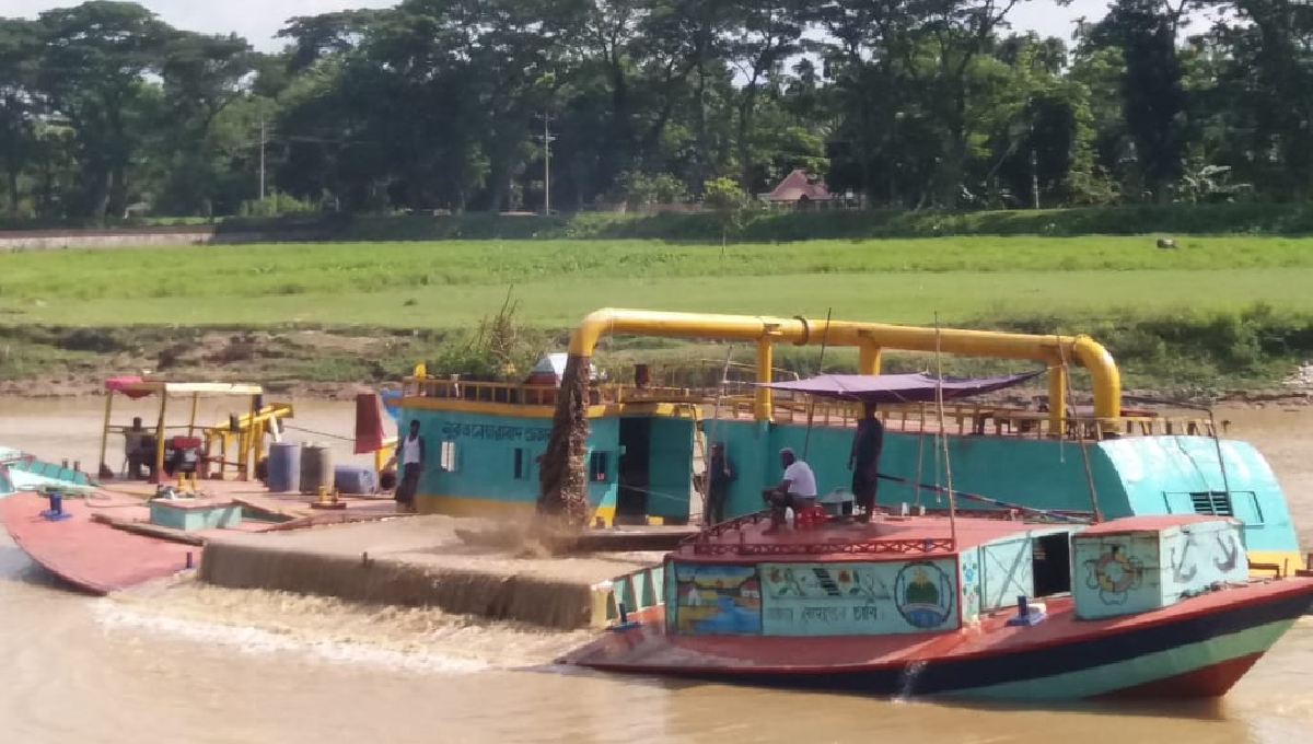 Sand lifting in Moulvibazar continues without let-up