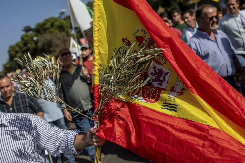 Spain: Olive farmers protest low prices, US tariff plans