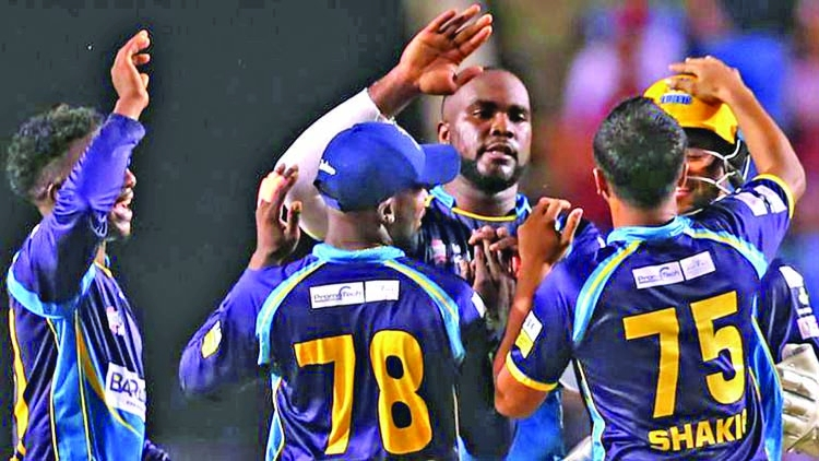 Shakib's Tridents book spot in CPL final
