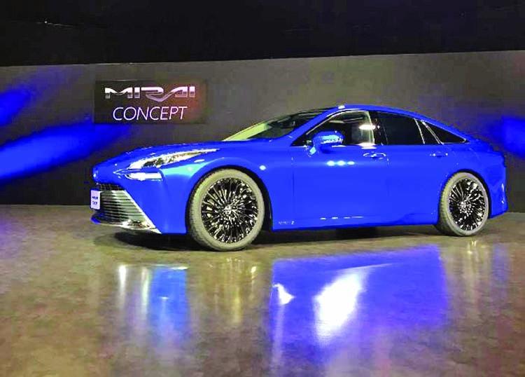 Toyota unveils revamped hydrogen sedan