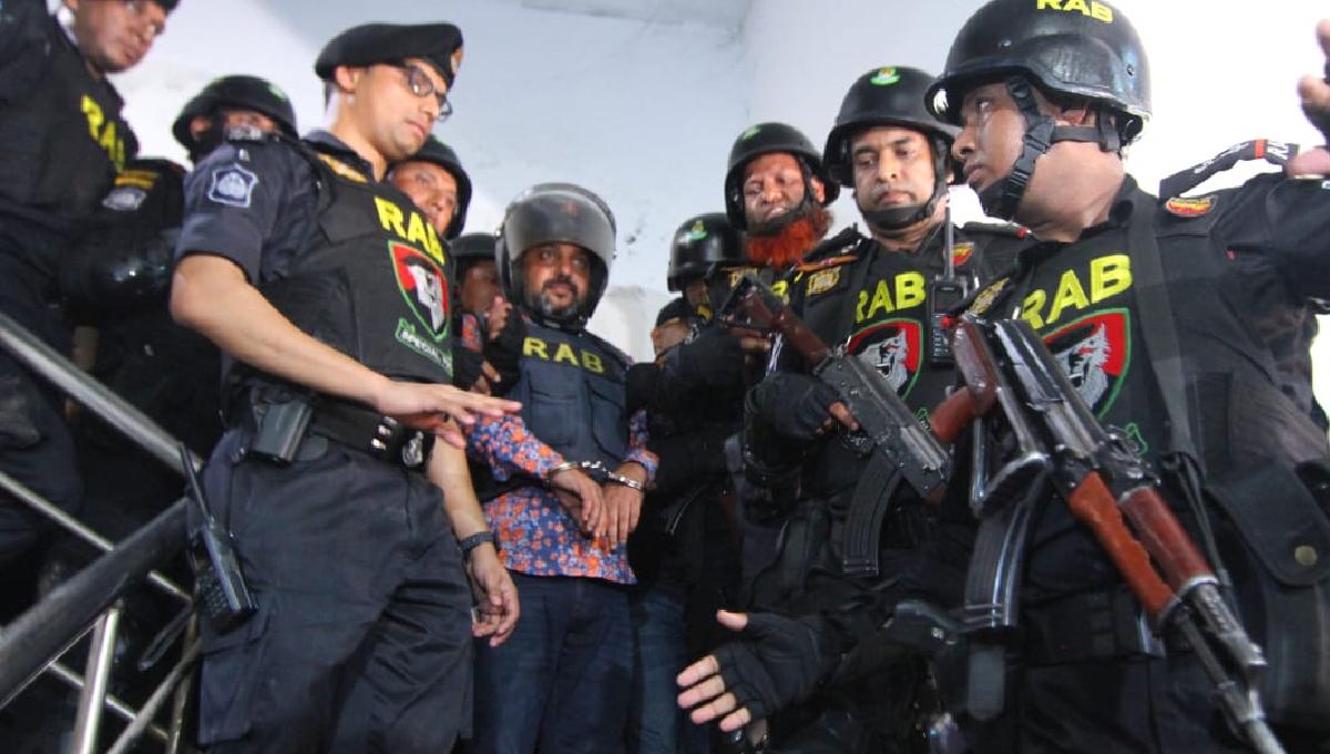 Samrat being taken to jail again from hospital