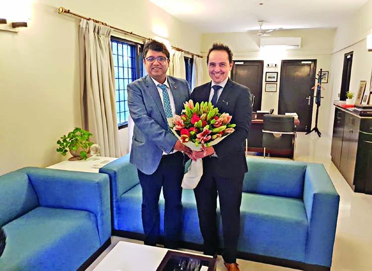 Shoeb Chowdhury meets Maltese High Commissioner
